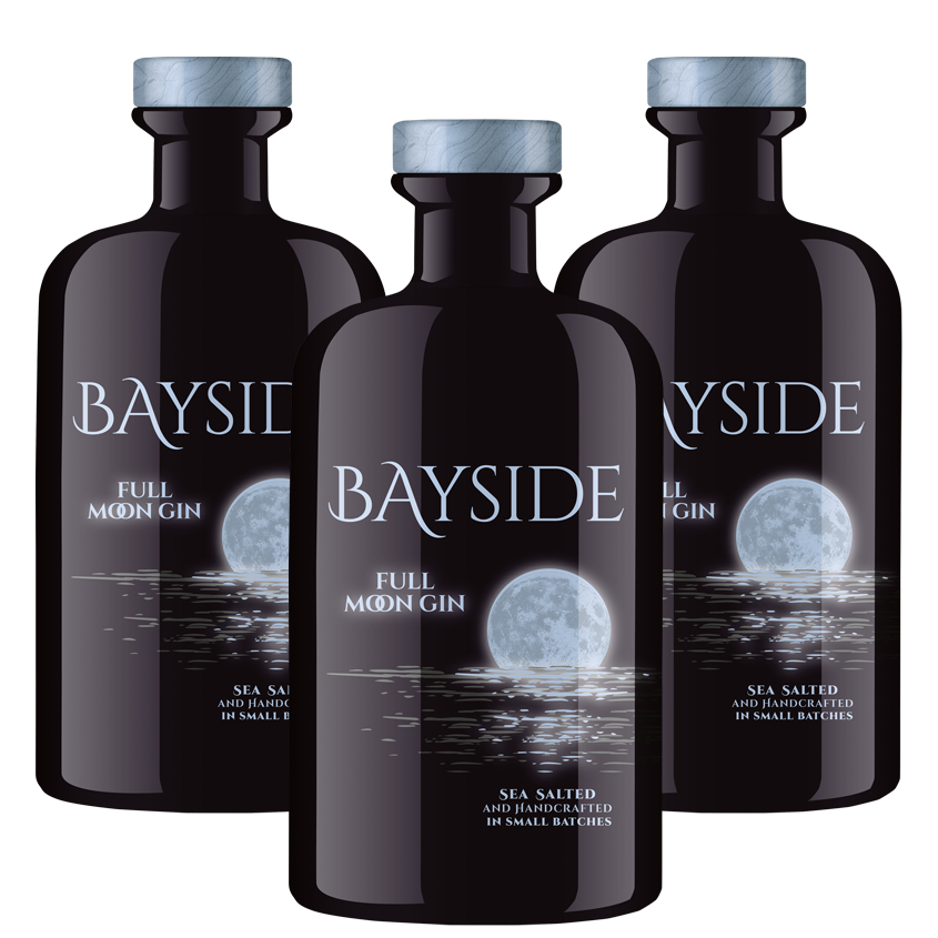 BAYSIDE FULL MOON LUMINOUS GIN Dreierpack